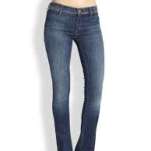 Mother The Daydreamer Skinny Flare Leg Dark Jeans
